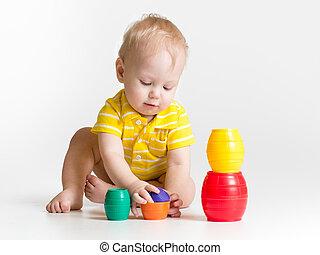 小さい子供, おもちゃで遊ぶ