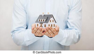 小さい家, おもちゃ, 手