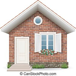 小さい家, れんが