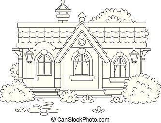 小さい家, 保温カバー, 村