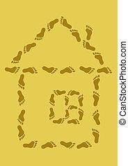 小さい家, 砂, 跡