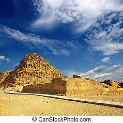 小さい, エジプト, ピラミッド, ギザ