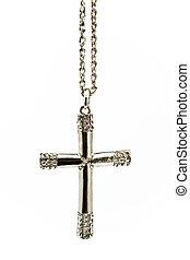 小さい, キリスト教徒, 交差点, 銀, ダイヤモンド