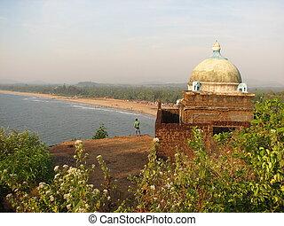 小さい, ヒンズー教信徒, 古代, sea., 寺院