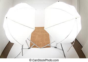 小さい, 写真の スタジオ