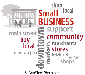 小さい, 単語, ビジネス, 雲