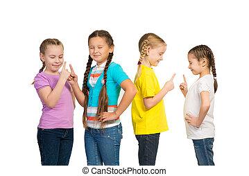 小さい, 女の子, グループ