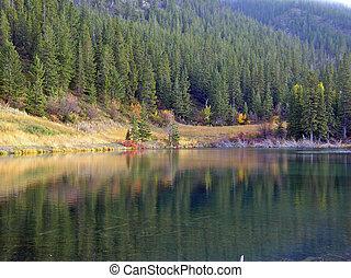 小さい, 山湖