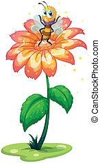 小さい, 巨人, 花, の上, 蜂