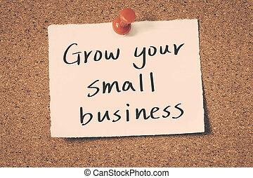 小さい, 成長しなさい, ビジネス, あなたの
