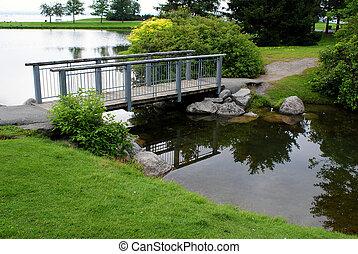 小さい, 橋, 公園