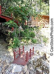 小さい, 橋, 庭の日本人