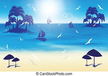 小さい, 浜, 砂, islands.