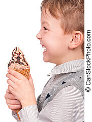 小さい 男の子, ∥で∥, アイスクリームコーン
