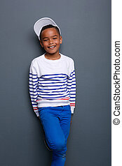 小さい 男の子, 微笑, 肖像画