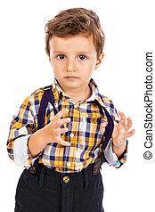小さい 男の子, 愛らしい, 肖像画