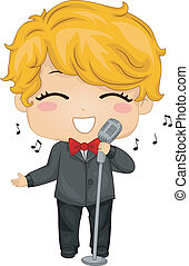 小さい 男の子, 歌うこと