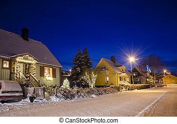 小さい, 町, スウェーデン語, 光景