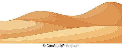 小さい, 砂, 風景, 丘, 背景