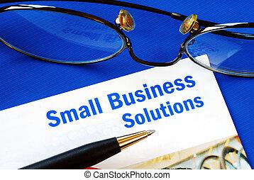 小さい, 解決, ビジネス
