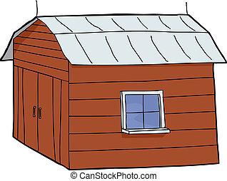 小さい, 赤い納屋