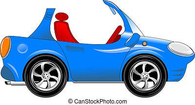 小さい, 青い車