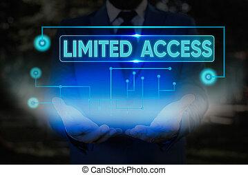 小さい, access., かなり, 数, 概念, 意味, テキスト, 持つこと, 限られた, 限られた, アクセス, points., 手書き