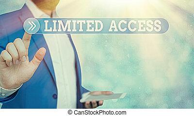 小さい, access., 写真, 印, かなり, 数, テキスト, 提示, 持つこと, 概念, 限られた, アクセス, 限られた, points.