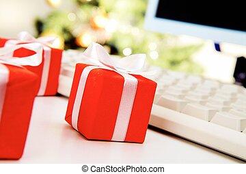 小さい, giftboxes