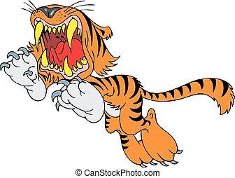 小さい, tiger, 隔離された