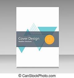 小冊子, 樣板, 布局, 覆蓋, 設計, 年度報告