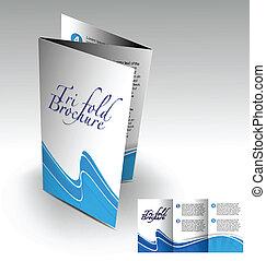 小冊子, tri-fold, 設計