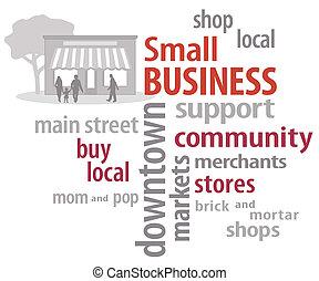 小型企業, 詞, 雲