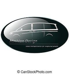 小型 ヴァン, 銀, logo.
