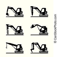 小型, 建设机械