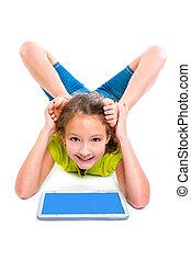 小塊pc, contortionist, 靈活, 女孩, 玩, 孩子