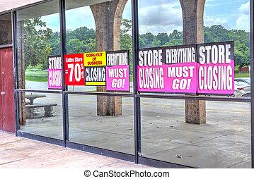小売業, 後で, 店, から, pandemic, 行く