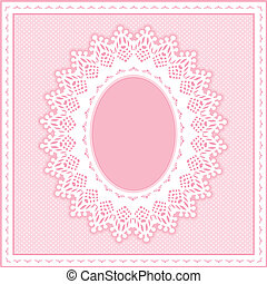 小孔, 帶子, 框架, 彩色蜡筆, 粉紅色