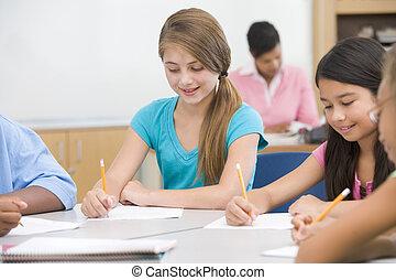 小学校, 生徒, 中に, 教室