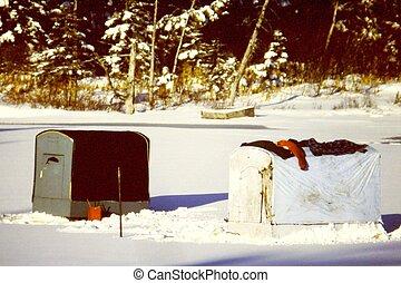 小室, 釣魚, 冰