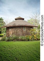 小屋, 夏, 環境, 竹, 光景, すてきである