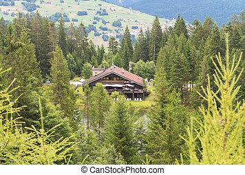 小屋, 山湖
