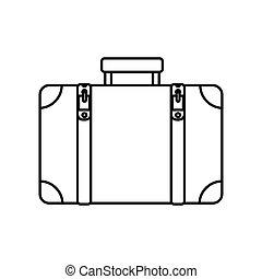小提箱, 旅行, 被隔离, 圖象