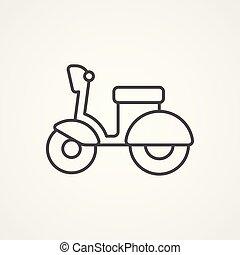 小摩托车, 矢量, 符号, 图标, 签署