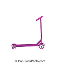 小摩托车, 矢量, 设计, 背景, 白色, 图标