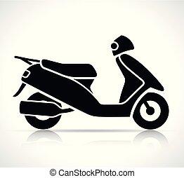 小摩托车, 矢量, 黑色, 图标