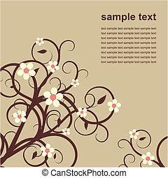 小枝, 花, カード