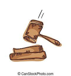 小槌, シンボル, 法律