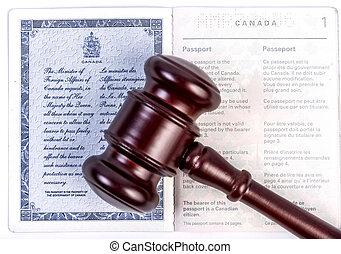 小槌, パスポート, カナダ