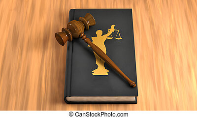 小槌, 上に, a, 法律書